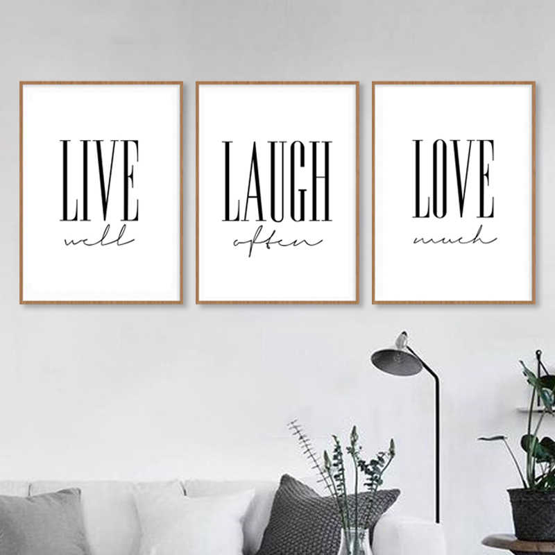 Live Laugh Love Posters And Prints Nordic Style Simple Wall Art Postre For Living Room Decorative Pictutes Home Decor Painting Calligraphy Aliexpress