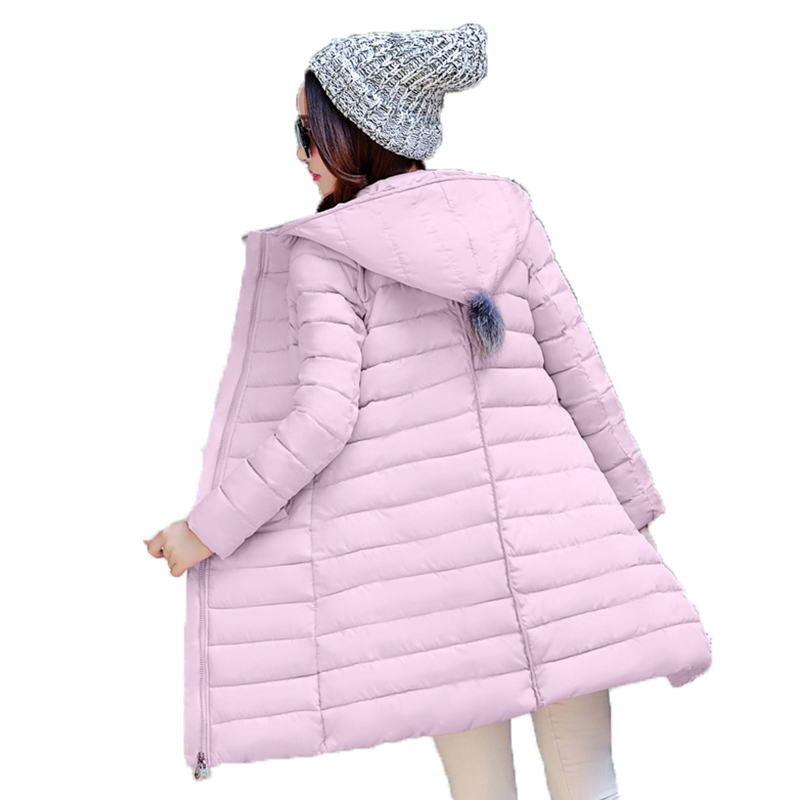 2017 Winter Long Slim Women Jacket Warm High Quality Cotton Female Coat Fashion Wadded Ladies Parka Hooded Solid Outwear YP0423 high quality thickening warm parka hooded women winter jacket snow wear female long slim winter cotton padded wadded coat cm1490