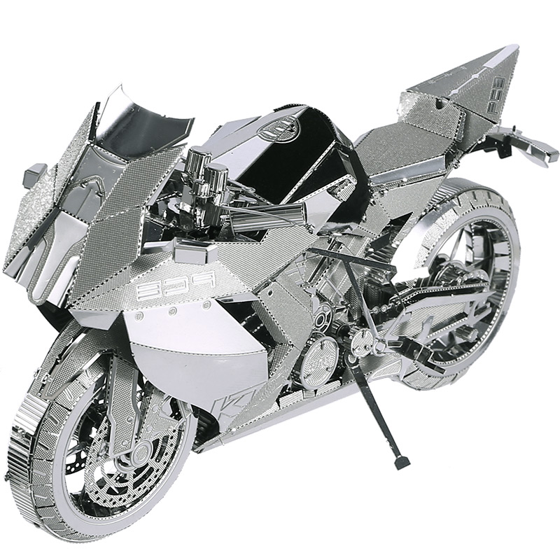 3D Metal Puzzle Motorcycle Assembly Metal Model Kit DIY 3D Laser Cut Model Puzzle Toys Gift