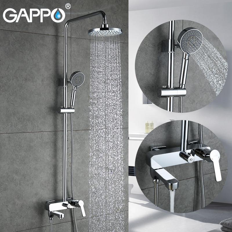 GAPPO duş musluk banyo şelale duş bataryası yağmur biçimli duş kafa mikser küvet duş sistemi seti colonne de douche
