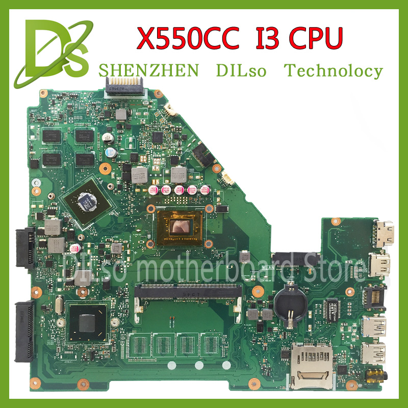 KEFU X550CC motherboard for ASUS X550CC R510C R510CC X550CL laptop Motherboard I3 CPU 100%Tested original motherboard for asus x550cc x550cl laptop motherboard x550cc mainboard rev2 0 with graphics card i3 cpu onboard freeshipping 100