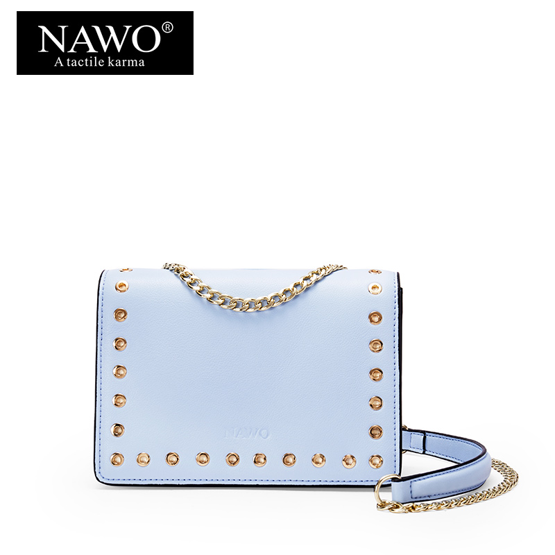 NAWO Fashion Women Messenger Bags Ladies Small Chain Crossbody Bags Envelope Shoulder Bags Designer Handbag Rivet Women Bag Sac