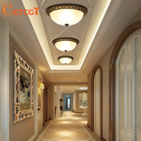 American Vintage Ceiling Lights Lamps For Living Room Bedroom Luminaria E27 Glass Edison Ceiling Lamp Home