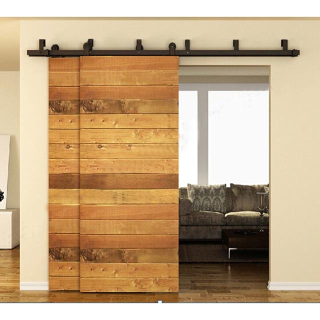 10 16FT interior fienile porta kit porta scorrevole pista in legno ...