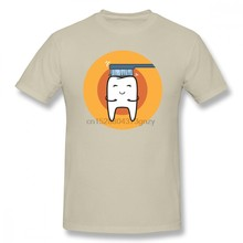 Tooth Brushing Men T Shirt New Style Geek Oversize Cotton Short Sleeve Men Clothes(China)