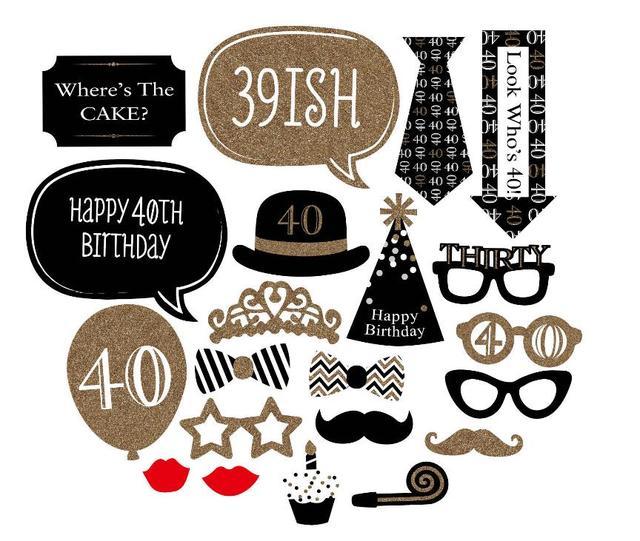 Bekend Photo Booth Bruiloft Decoratie 40 Jaar Viering Verjaardag  @MD02