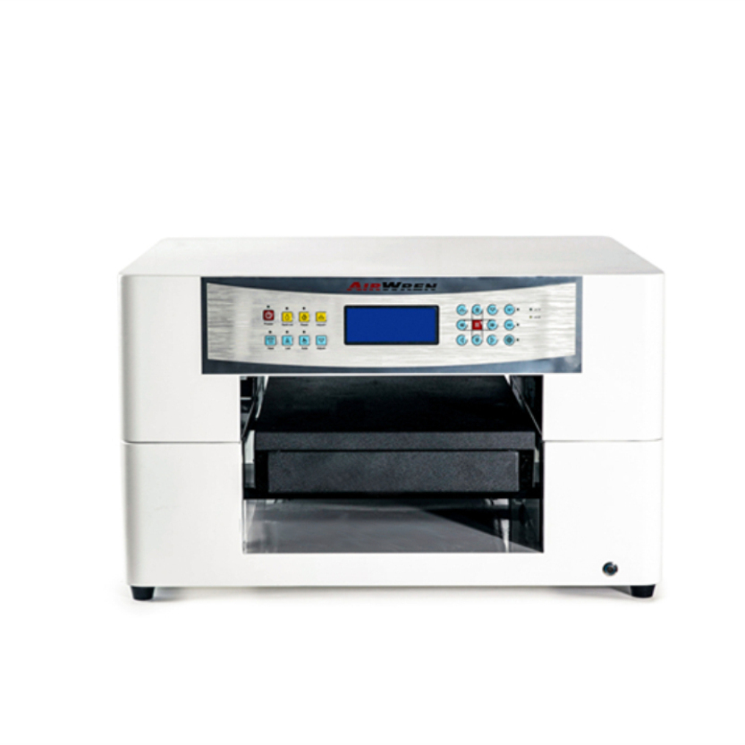 2017 new uv led flatbed printer with pen tray a3 size with water cooling system