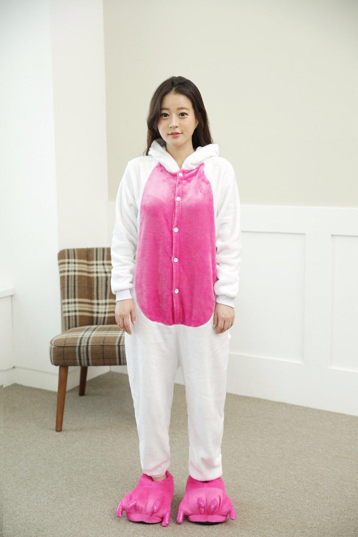 Halloween Adult Anime Pajamas Sets Cartoon Sleepwear Men And Women Pajamas Flannel Animal Cosplay Pajamas Pary Winter Warm