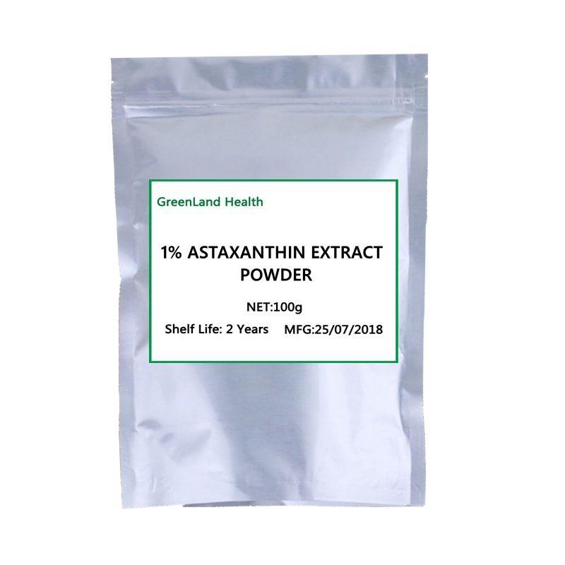 High Quality 1% Astaxanthin Extract Powder, Antioxidant natural astaxanthin powder 1