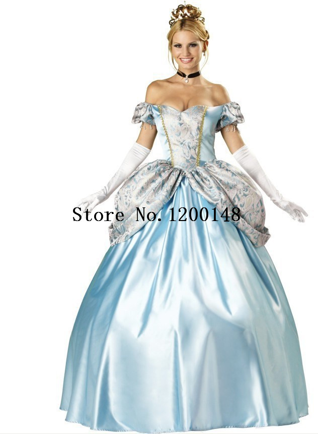 Noble European palace adults long sissy dress costumes queen dress Halloween snow white play princess costumes for cosplay women