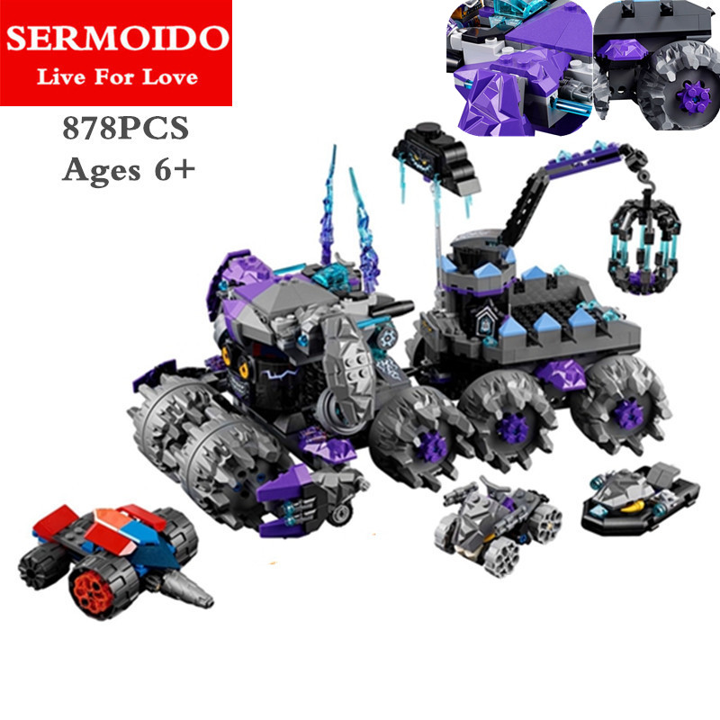 SERMOIDO 10597 New Knights Jestro's Headquarter 3D DIY Model Building Blocks Boys Toys Nexus Compatible with Lepine14031 B92 8 in 1 military ship building blocks toys for boys