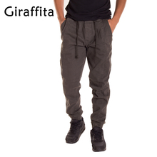 Men Good Quality Cotton Joggers Casual Sweatpants Drawtring Sporting Trousers Man Running Pants Sportwear