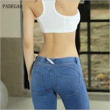 High waist Slim Jeans Women Skinny push up Jeans blue Denim Pencil Pants Stretch Women plus size Jeans Pants Calca Feminina