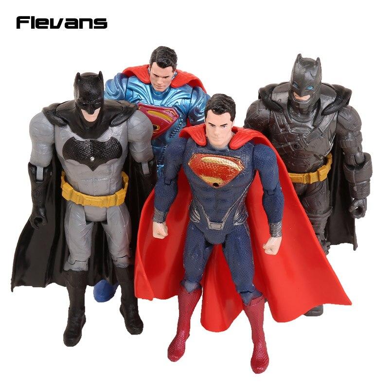 Batman v Superman Dawn of Justice Toys Batman Superman PVC Action Figures Model Toys 7 18cm 4pcs/set