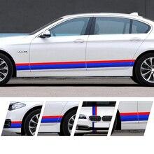 Tri-colour strip automobile personality drawing body sticker  German Italian French decorative refitted Car Sticker