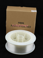 PMMA optic fiber light cable end glow 0.5mm/6000m clear optical fibre line for decoration