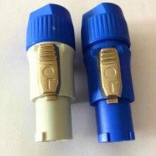 10 комплектов = 5 комплектов синий+ 5 комплектов серый Neutrik PowerCON тип A NAC3FCA+ NAC3MPA-1 Шасси Панель проводов разъем
