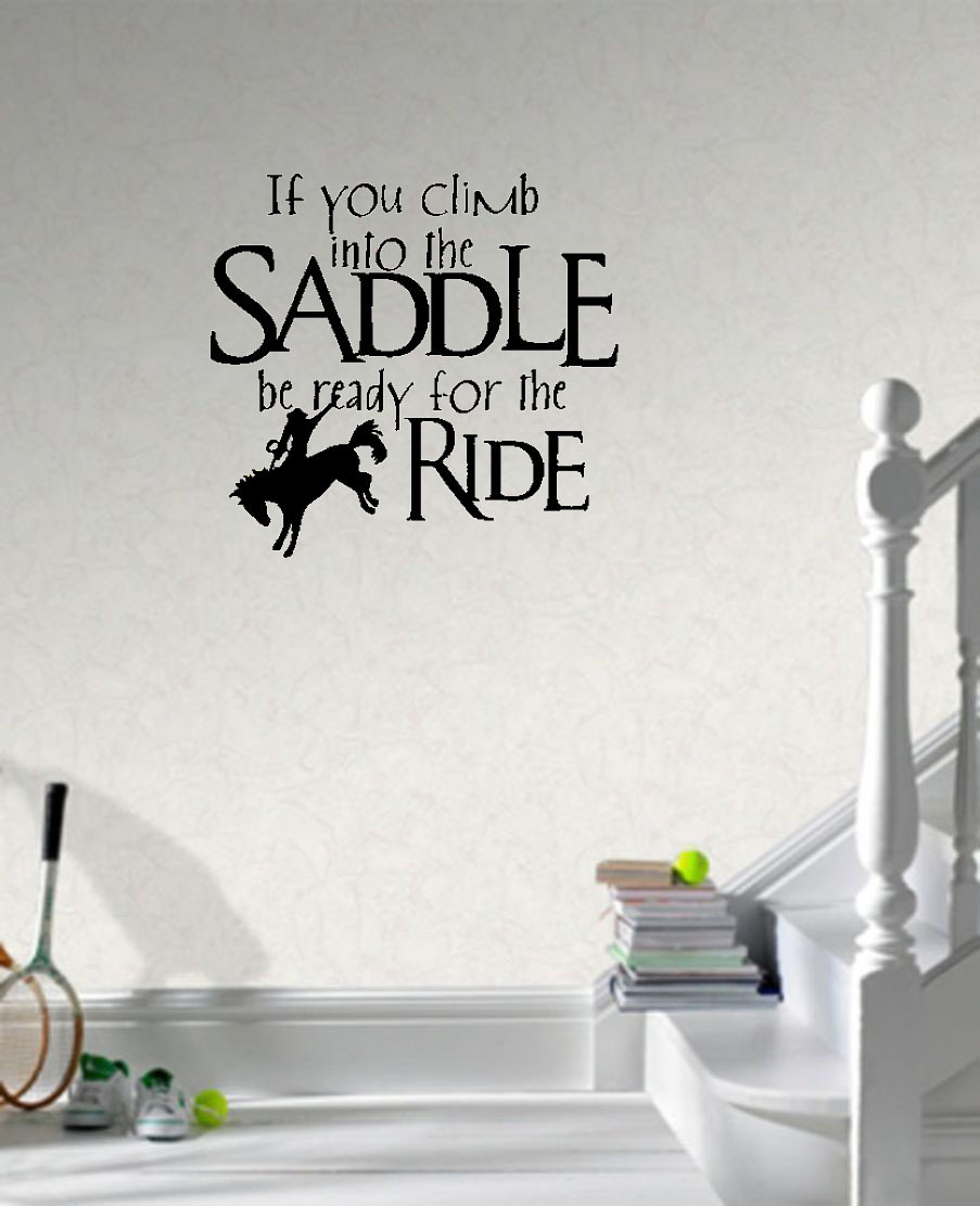 Saddle Up Horse Rider Western wall decals vinyl stickers home decor ...