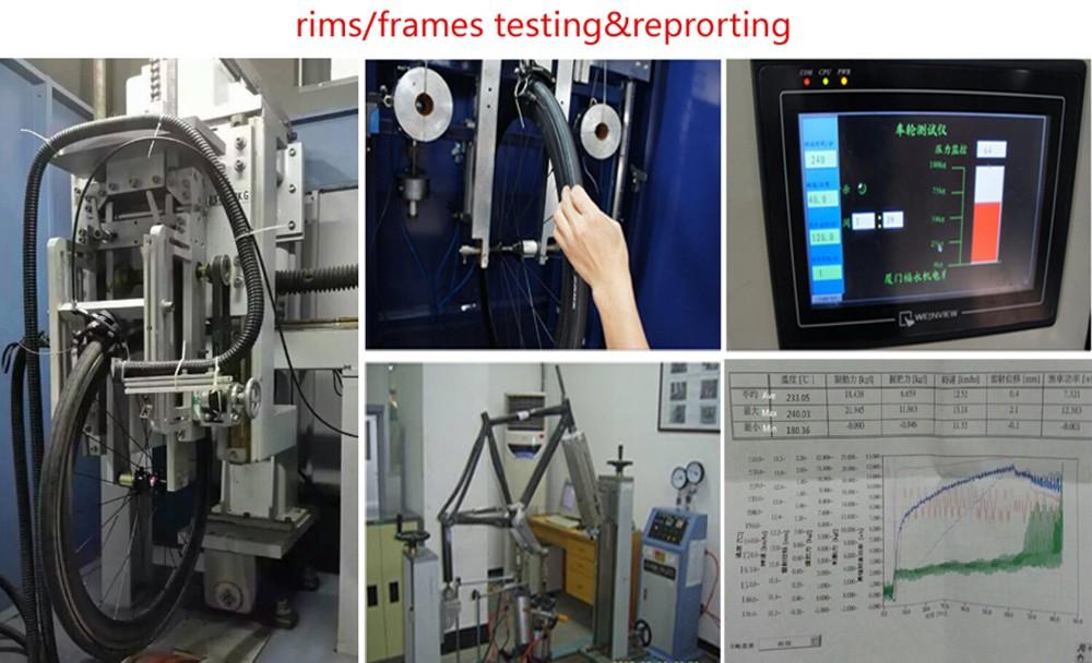 carbon bike rims wheel set and farmes testing