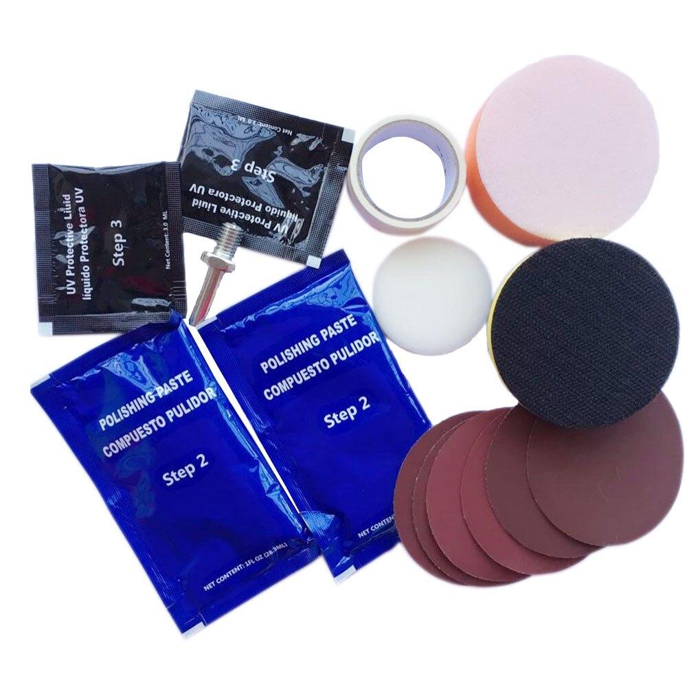 Купить с кэшбэком Visbella Windshield Repair and Headlight Restoration Kit for Car Lamp Plastic Lens Restore Renew Polish Repair Hand Tool Sets