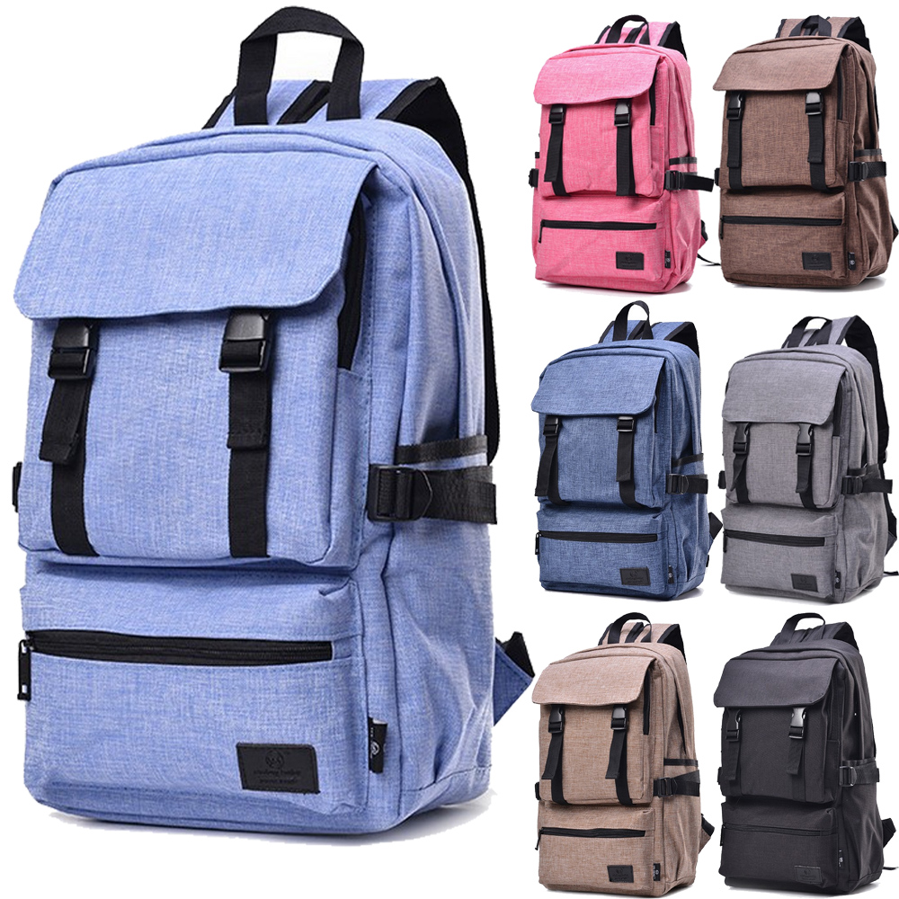14 15 15.6 Inch Gunny Linen Waterproof Laptop Notebook Backpack Bags Case School Backpack for Travel Shopping Climbing Men Women