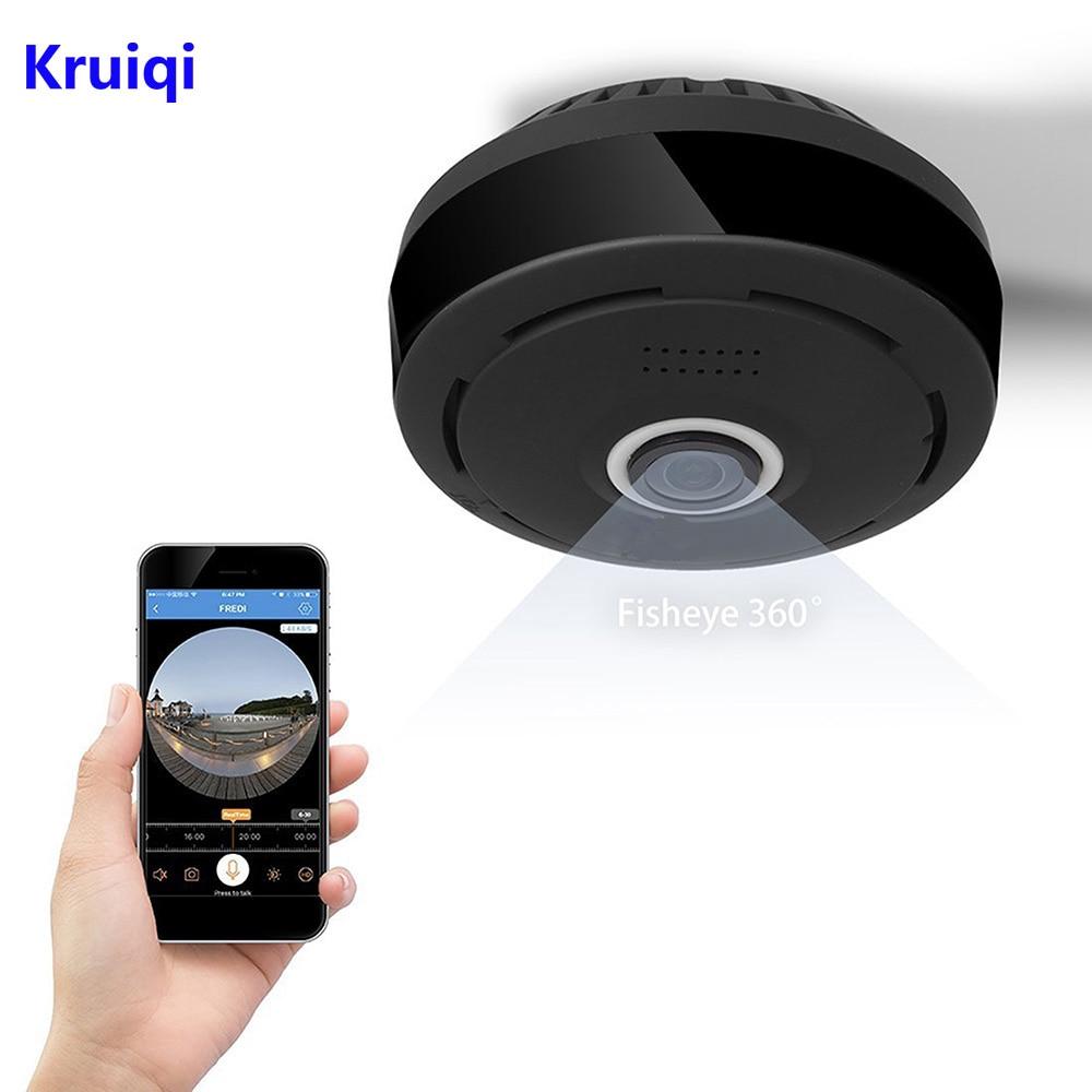Kruiqi 360 Degrés 960 p HD Panoramique Sans Fil IP Caméra CCTV WiFi Accueil Sécurité Surveillance Intérieure Caméra À Distance