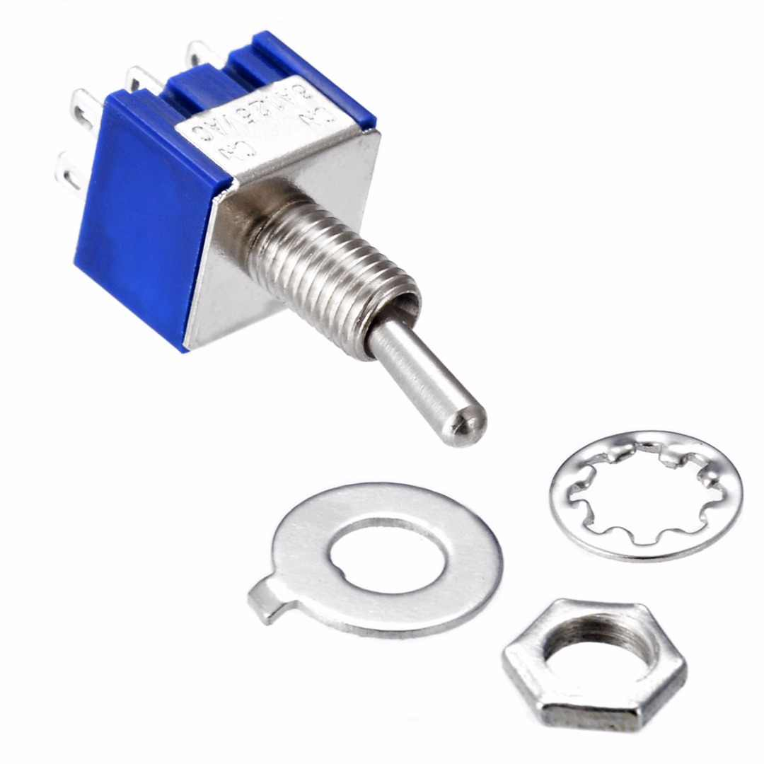 5 Pcs/10 Pcs MTS-202 DPDT Beralih 6A 125V AC 6-Pin On-On Mini Atur switch 31*13*12 Mm untuk Beralih Lampu Motor Mayitr