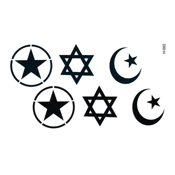Magen David Waterproof Temporary tattoos stickers Fake tattoo Star Of David Team Bride Tattoo Waterproof Cheap Stuff image