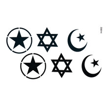 Magen David Waterproof Temporary tattoos stickers Fake tattoo Star Of David Team Bride Tattoo Waterproof Cheap Stuff(China)