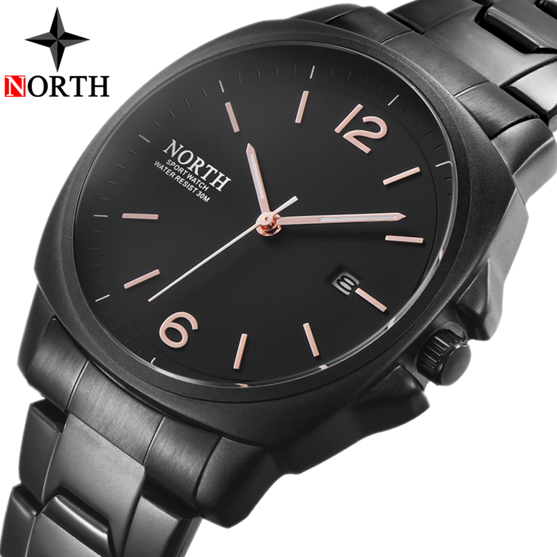 2018 New NORTH Mens Watches Top Brand Luxury Quartz Watch Men 3ATM Date Fashion Casual Sports Military Watches Relogio Masculino цена