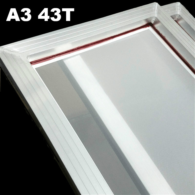 1Pc A3 Screen Printing Aluminum Frame with White 43T Silk Print Polyester Mesh New  31cm*41cm1Pc A3 Screen Printing Aluminum Frame with White 43T Silk Print Polyester Mesh New  31cm*41cm