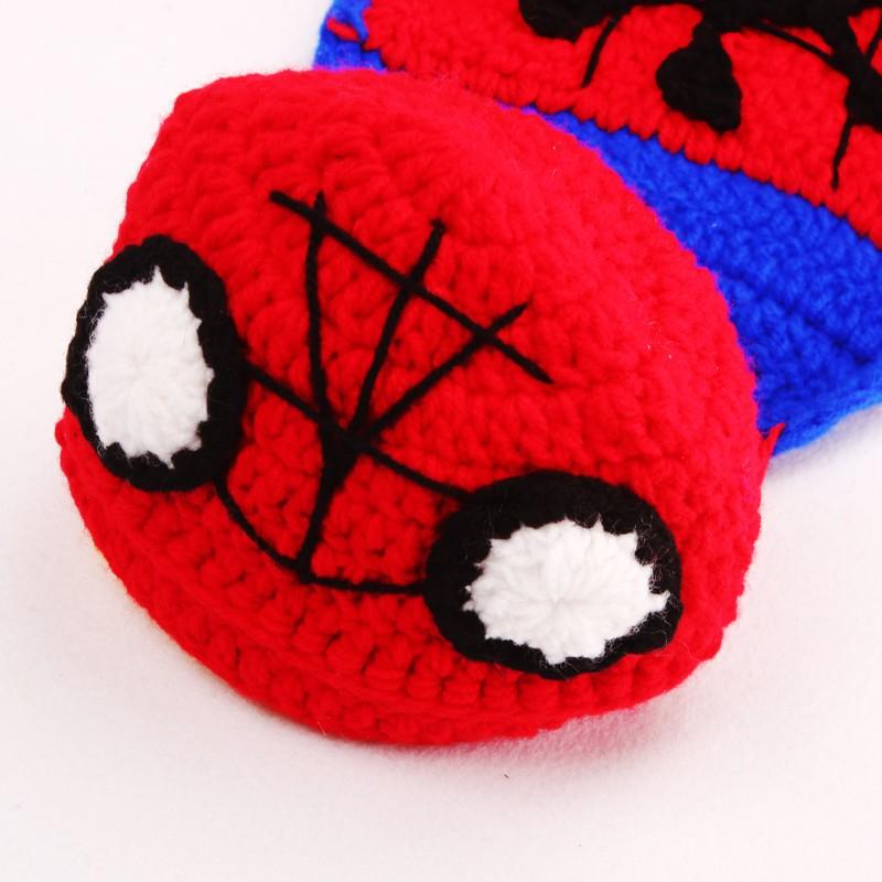 Häkeln Muster Jungen Spiderman Mädchen Beanie Hut mit Cape ...