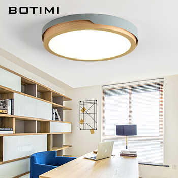 BOTIMI 220V LED White Round Ceiling Lights Nordic Style Surface Mounted Bedroom Lamp Living Room Wooden Kitchen Lighting Fixture - DISCOUNT ITEM  40% OFF All Category