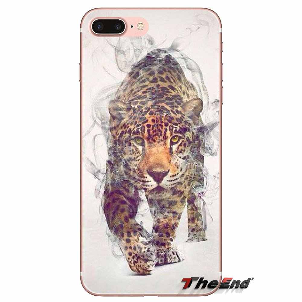Transparan Soft Shell Cover untuk Samsung Galaxy J1 J2 J3 J4 J5 J6 J7 J8 Plus 2018 Prime 2015 2016 2017 Babi Hutan Hewan