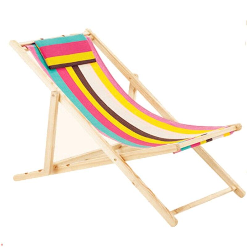 hamacas de lona plegable portable silla de playa de madera al aire libre silla del ocio