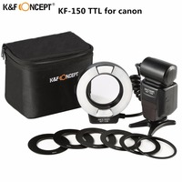 Newest K&F CONCEPT KF 150 Flash Speedlite Master Slave TTL Speedlight With Reflector For Canon 6d 600d 550d 70d 5d DSLR Camera