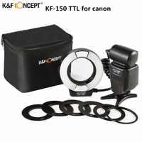 Più nuovo di trasporto K & F CONCETTO di KF-150 Flash Speedlite Master Slave TTL Speedlight Con Riflettore Per Canon 6d 600d 550d 70d 5d DSLR Della Macchina Fotografica