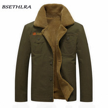 BSETHLRA 2019 Bomber Jackets Men Autumn Winter New Arrival Casual Overcoats Thick Windbreak Army Military Fur Mens Jacket Coat(China)