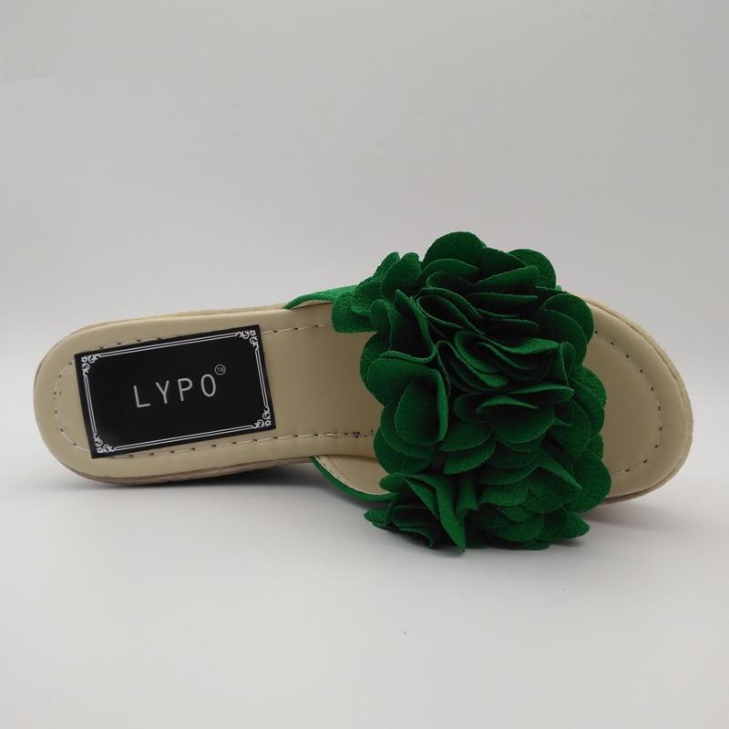 LYPO Slipper kvinnor sommar mode slitage vattentät plattform kilgar - Damskor - Foto 5
