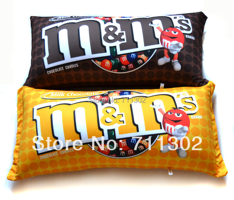 M&M Chocolate Candy Shape Polystyrene Microbead Pillows MM