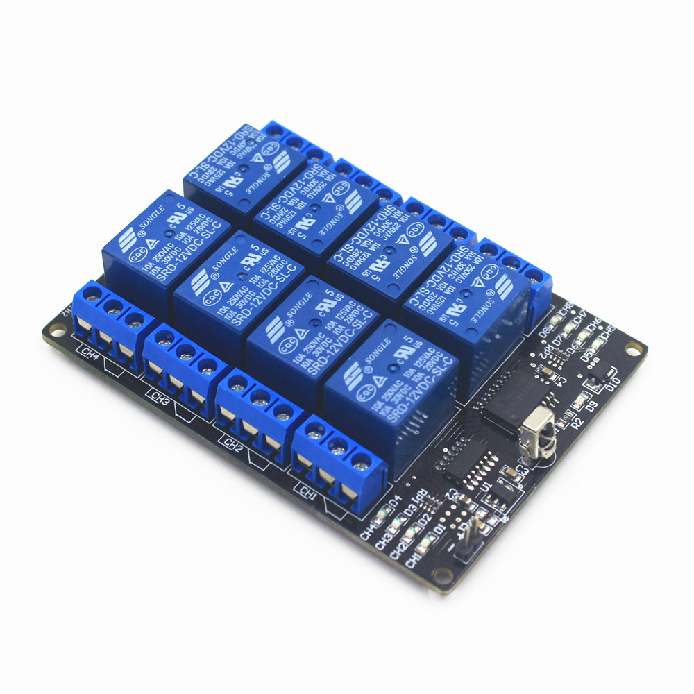 Xind Ele 8 Way Ir Remote Control Switch 12v Dc 10a Relay Module Infrared Transmitter Circuit For Home Auto And Light Ir12 8sm Pm9 In Switches From Lights Lighting On