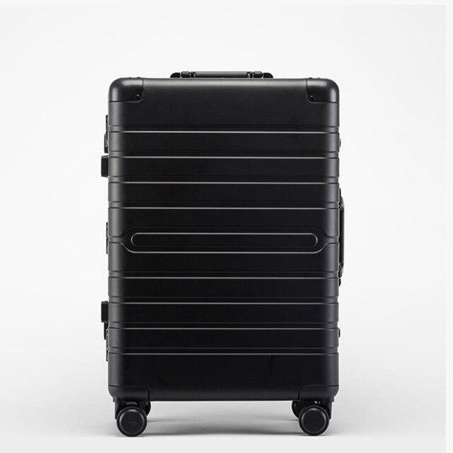 """Conto de viagem de alumínio barato mala viagem 24 """"spinner 20"""" caso do trole da bagagem do negócio na roda 1"""