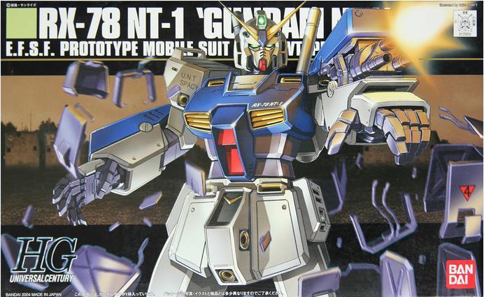 цена на 1PCS Bandai HGUC 047 1/144 RX-78 NT1 GUNDAM NT-1 Mobile Suit Assembly Model Kits lbx toys Anime action figure TOYS Gunpla