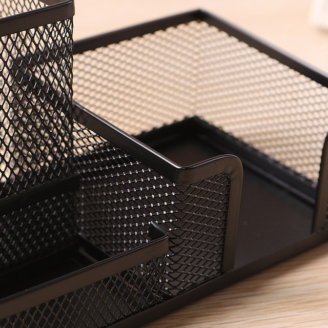 Attractive Table Caddy Set Part - 12: Steel Mesh Desk Organizer Set - Desktop Supply Caddy And Pen Holder Mini  Hutch Organizer Storage Table | Counter In Kit- Black