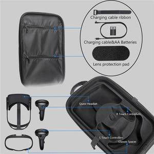 Image 5 - Чехол для хранения EVA для Oculus Quest виртуальной реальности, VR очки и аксессуары, водонепроницаемая защитная сумка, чехол для переноски