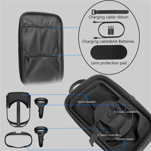 Image 5 - EVA Storage Case Box for Oculus Quest Virtual Reality VR Glasses and Accessories Waterproof Protective Bag Carrying Cover Case