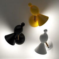 Nordic Creative Lovely Bird Wall Lamp Led Art Study Children Bedroom Color DIY Bird Magpie Wall
