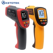IR Infrared Thermometer Pyrometer 0.1~1 Emissivity Non Contact Digital Surface Temperature Thermometer 900 750 950 degree