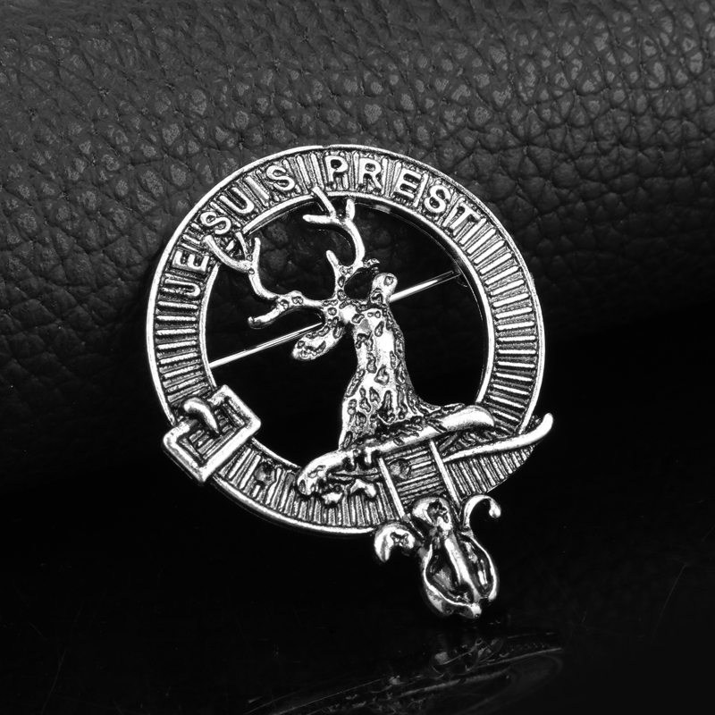 dongsheng New Outlander Scottish Kilt Silver Color Deer brooch for Male&Female Alloy Vintage Jewelry -40