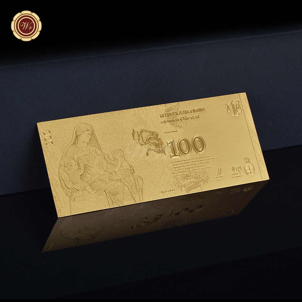 2012 años 100 Pesos Argentina billete de oro recuerdos